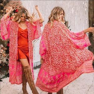 """The Maria"" Bright Boho Floral Kimono"